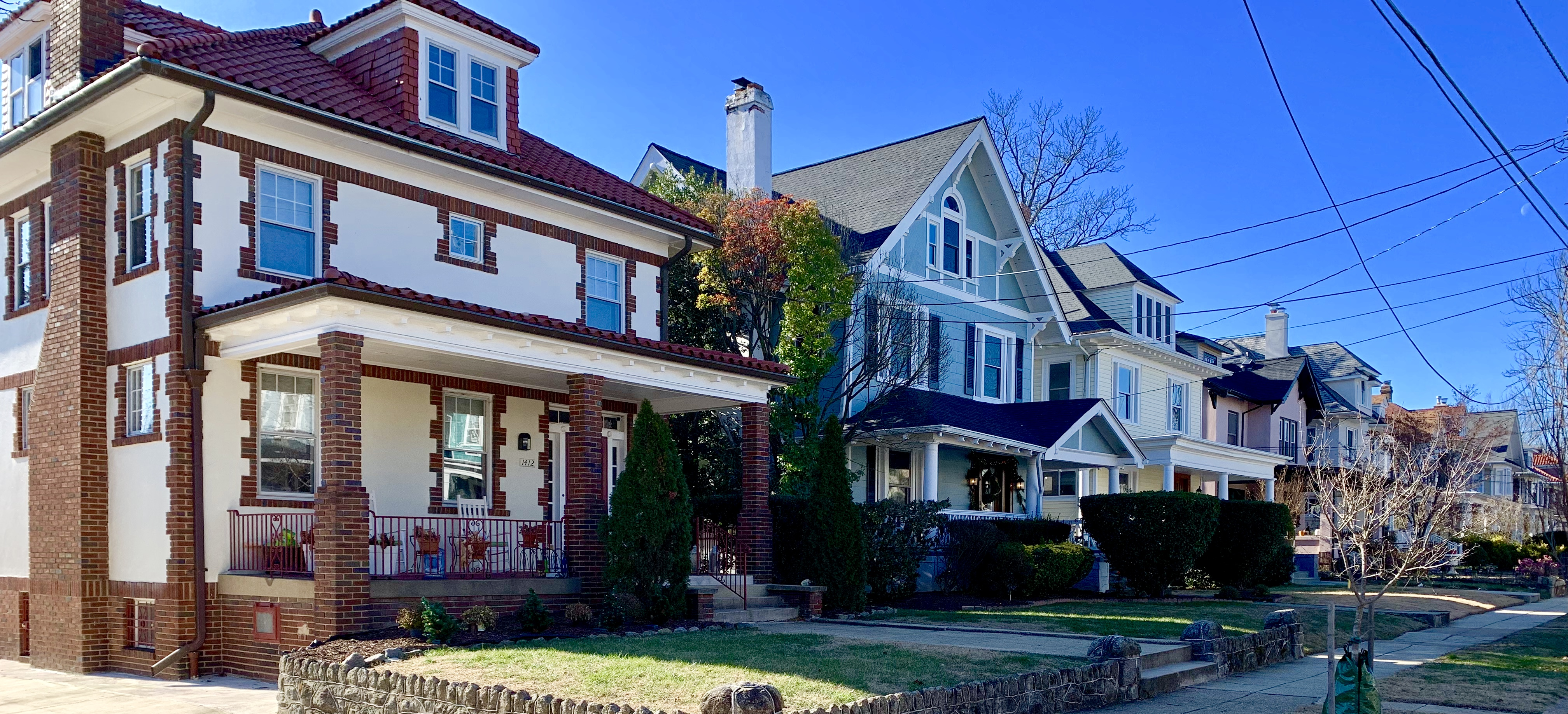 Craftsman Homes in Washington, DC. Madison Street in 16th Street Heights