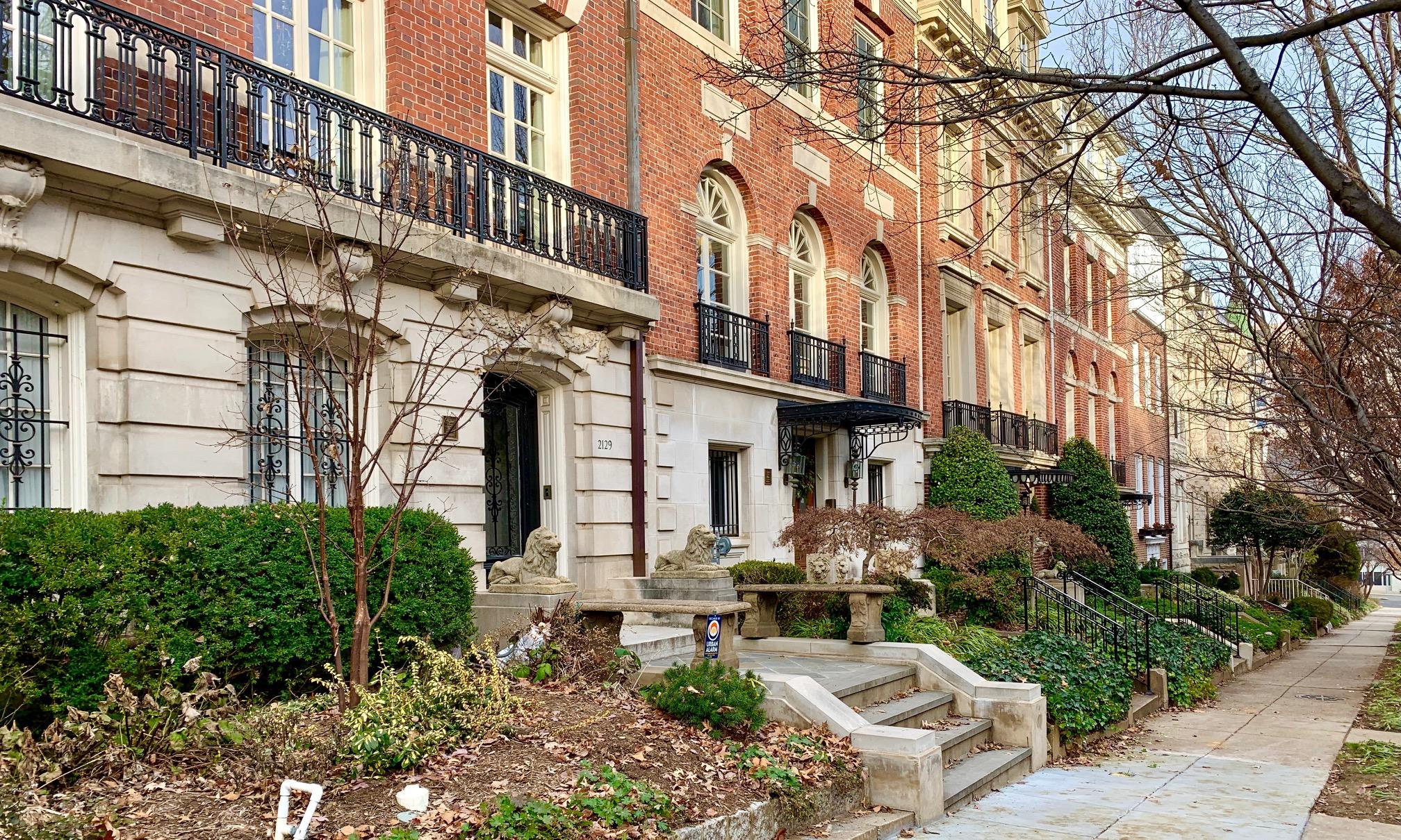 Washington, DC Semi Detached Homes. Bancroft Place NW in Kalorama
