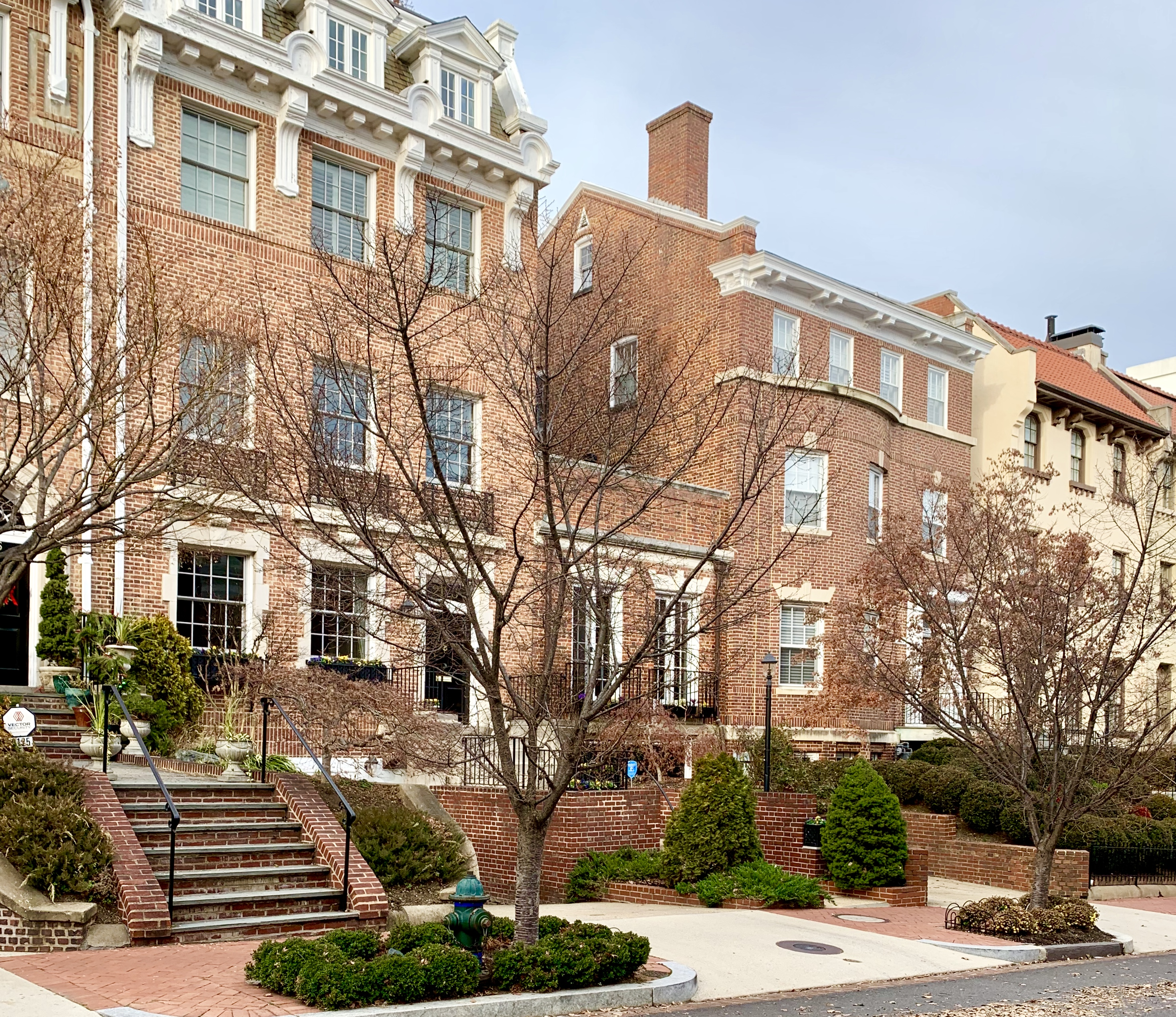 Washington, DC Townhouses. Leroy Place NW in Kalorama