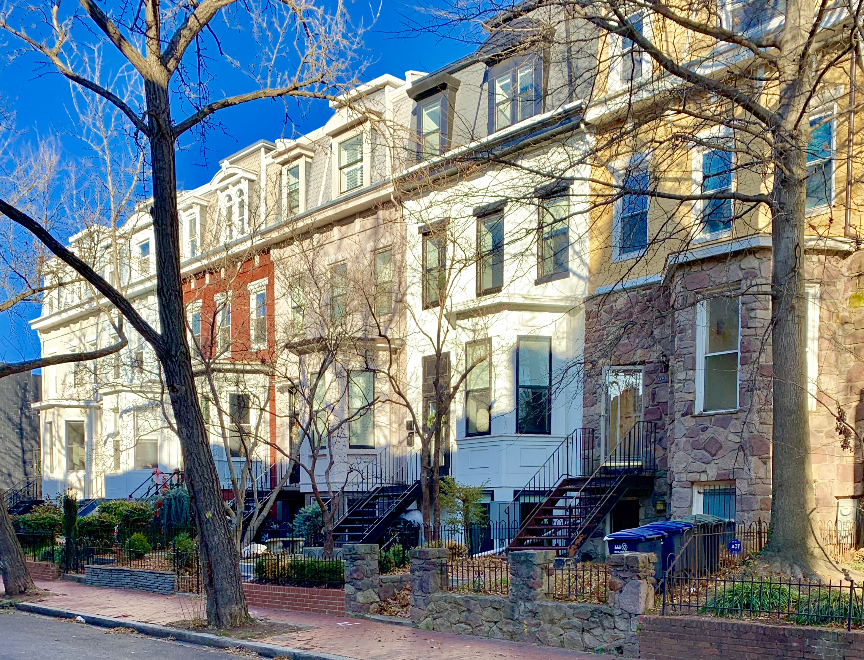 Washington, DC Townhouses. Riggs Place NW in Logan Circle
