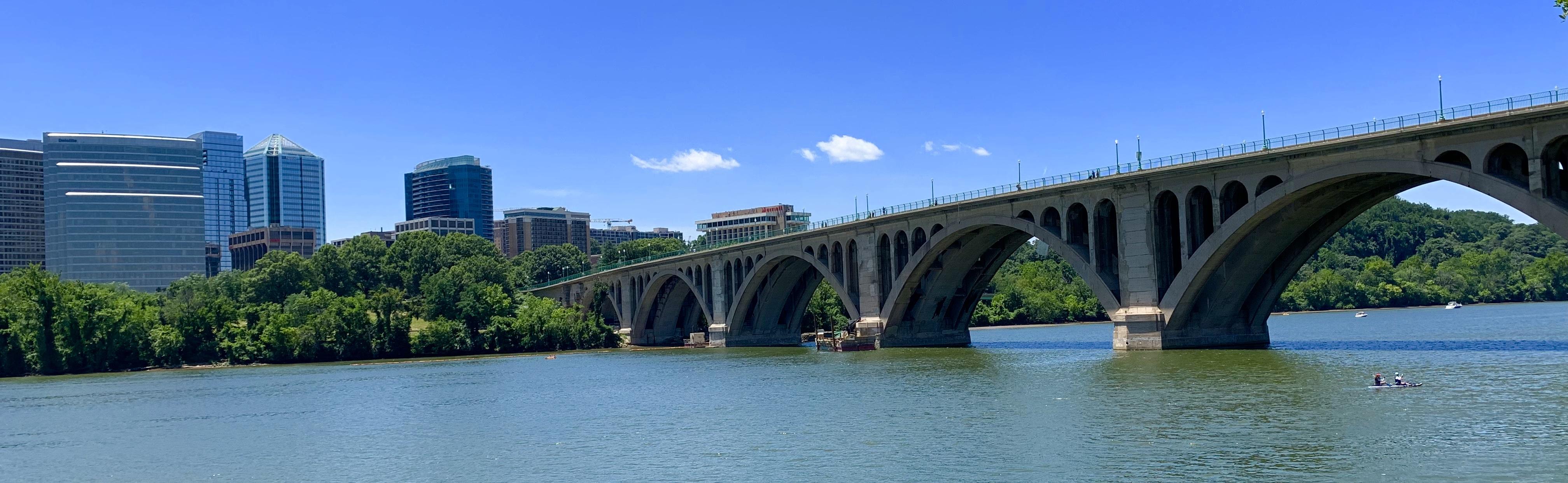 Francis Scott Key Bridge in Georgetown. Washington, DC Waterfront Homes
