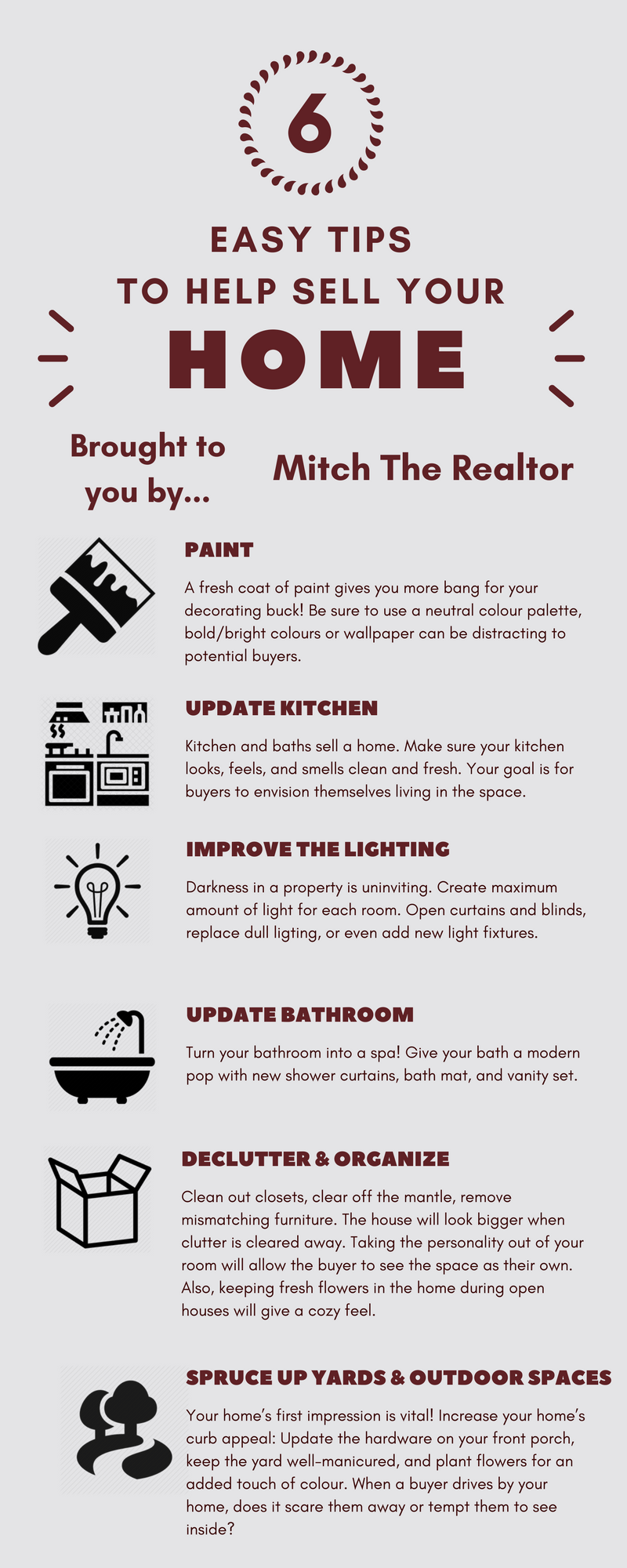 6 Easy Tips To Help Sell Your Home Home Selling Tips on home security tips, home inspection tips, home business tips, home design tips, home packing tips,