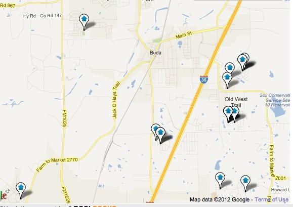 Buda New Homes Map