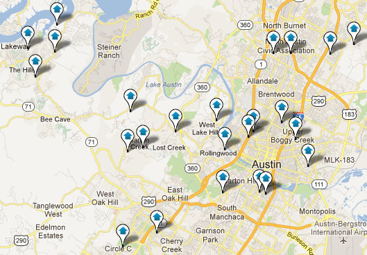 Map Search of Austin Real Estate