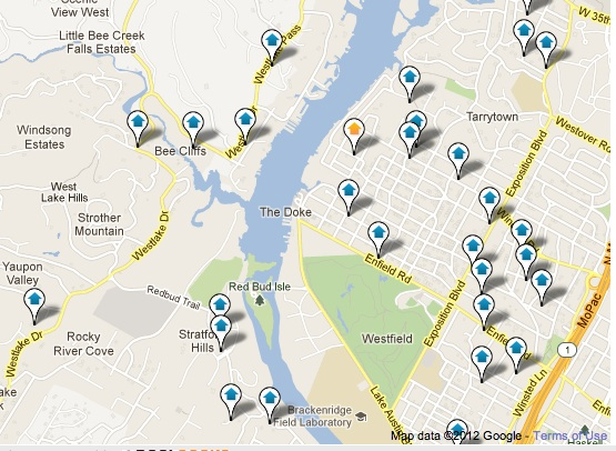West Lake Hills Luxury Homes Map Search