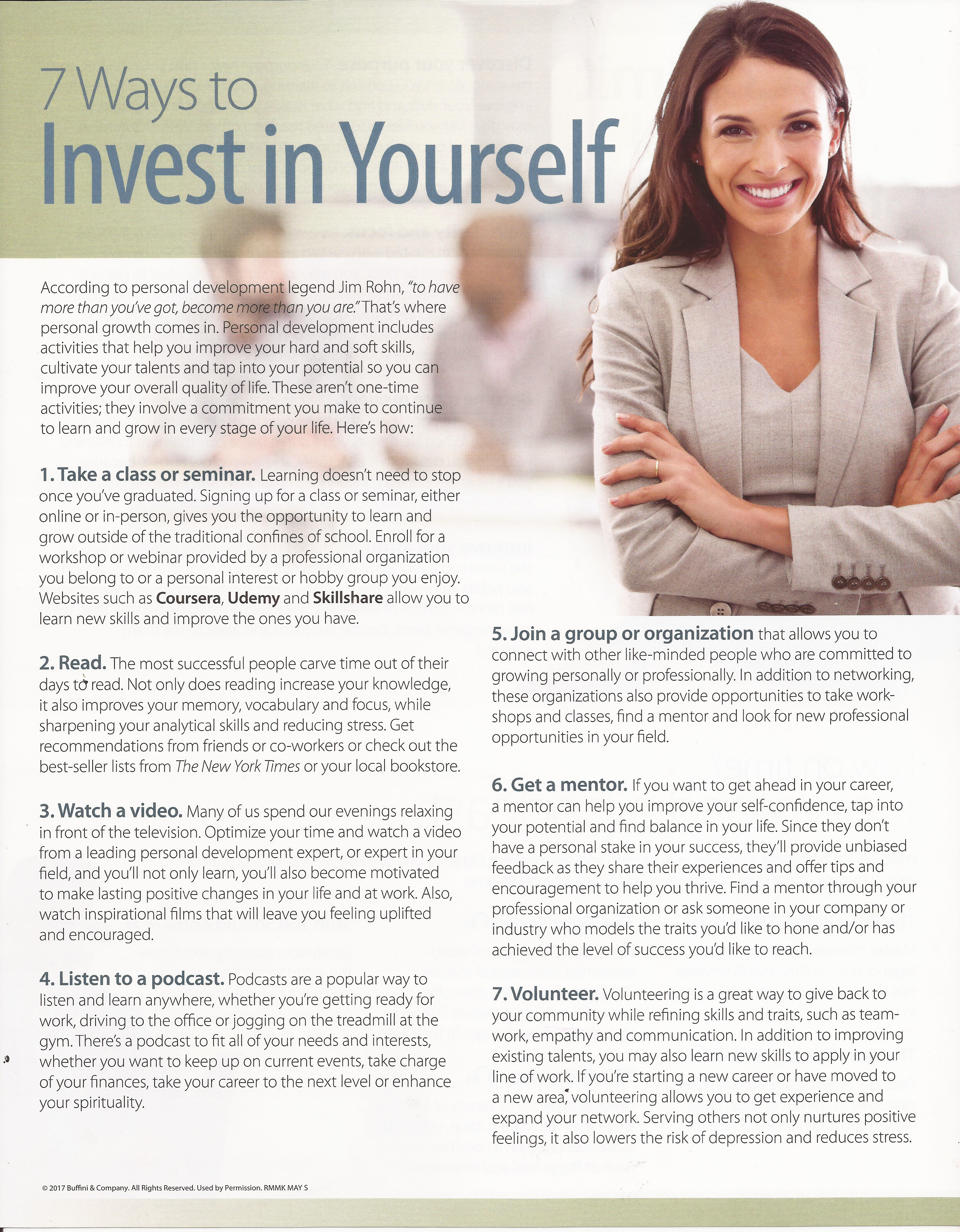 7 Ways to Invest in Yourself | Lori Wakefield REALTOR | www.AustinRealEstateGroup.com