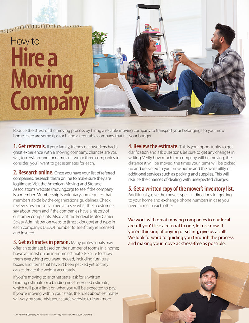 How to Hire a Moving Company | Lori Wakefield REALTOR | Austin TX