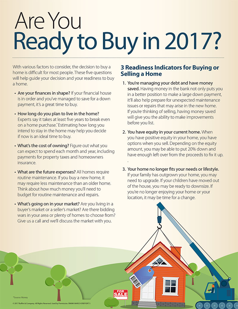 Three signs you're ready to buy or sell a home