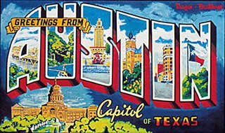 Austin Postcard Murual - Greetings from Austin