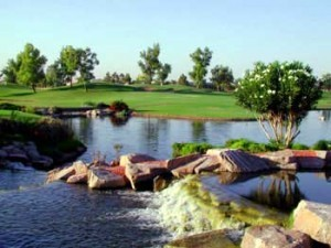 Golf and lake in Ocotillo