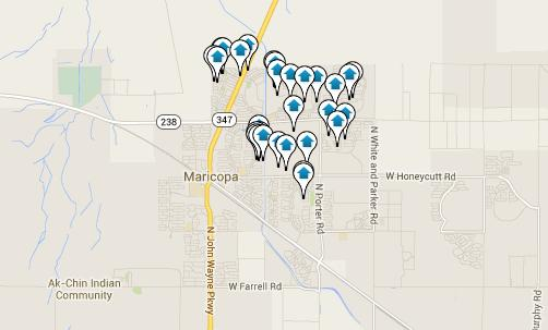 Click the Map to View all Maricopa Listings
