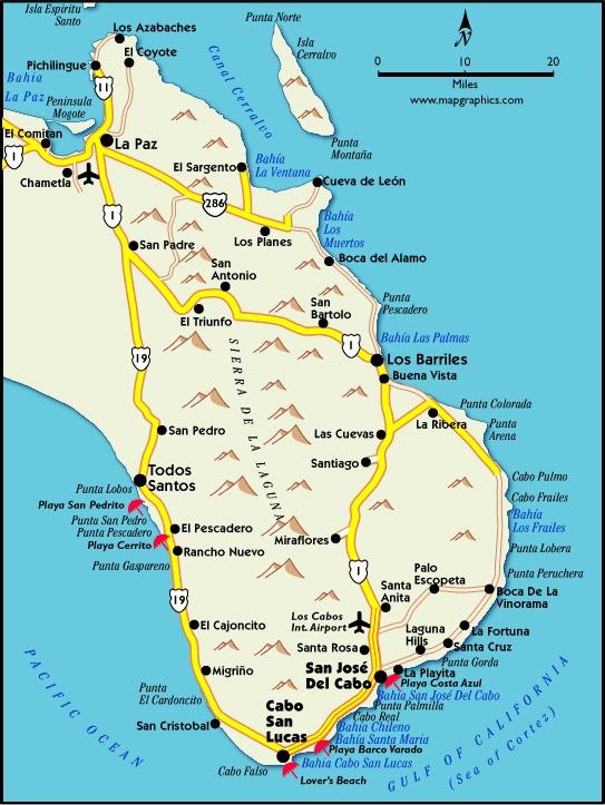 BAJA REAL ESTATE MAP