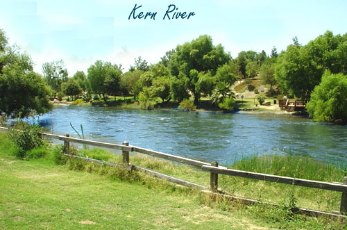 The Kern River in Bakersfield CA