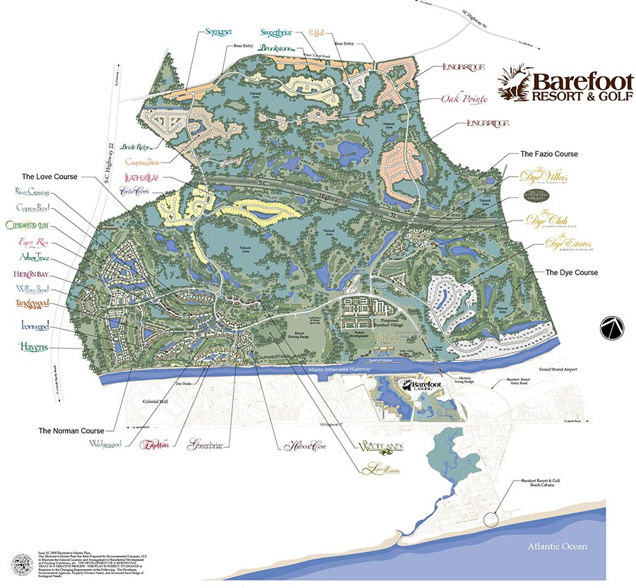 Barefoot Resort Map