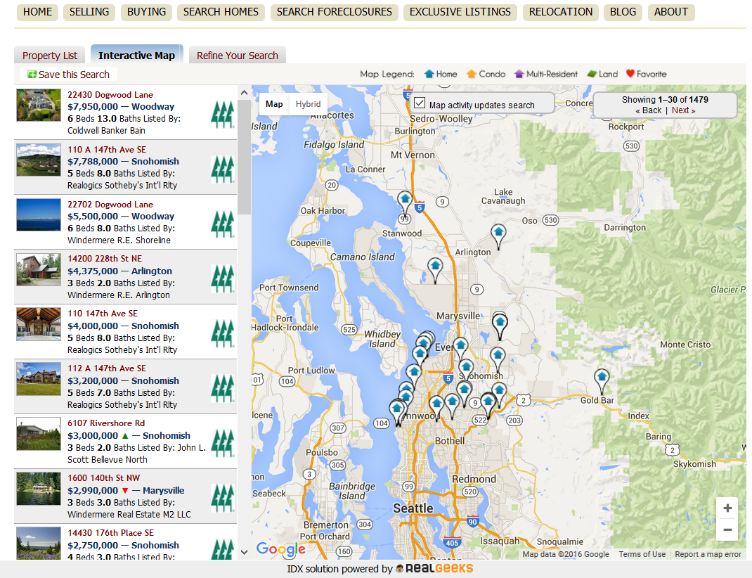 Snohomish County Map Search 02