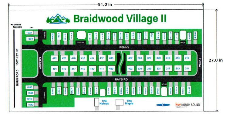 Braidwood Village II Plat Map