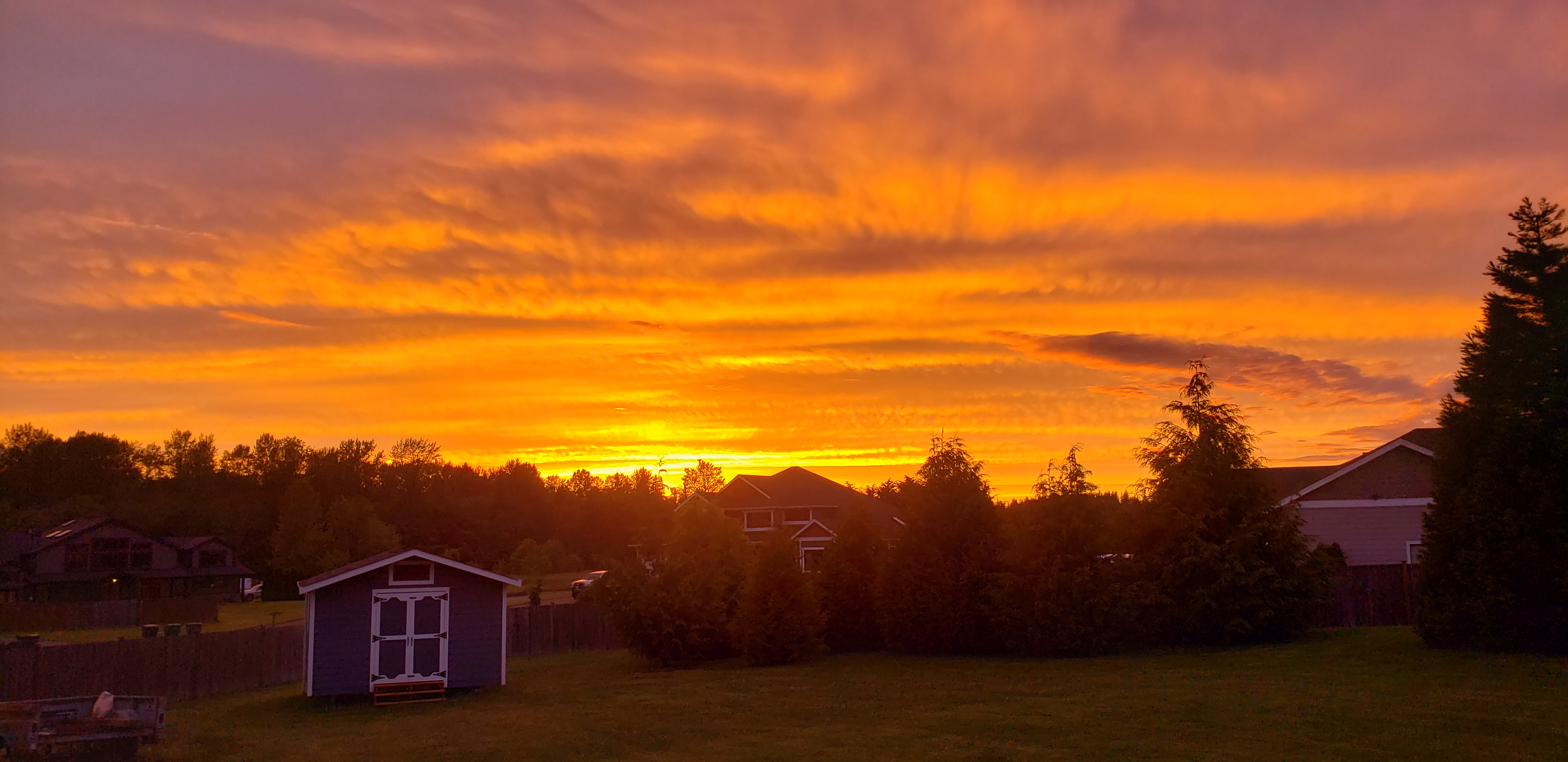 Sunset picture from Lakewood near Stanwood Wa