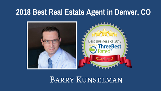 Barry Kunselman Best Realtor in Denver CO by Three Best Rated