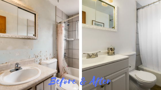 Irma Before and after Bathroom 1