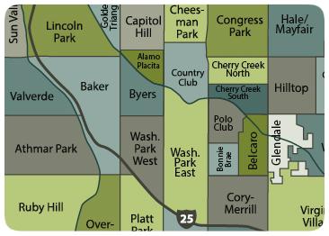 Wash Park Denver Neighborhood Map