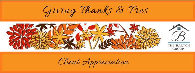 Giving Thanks & Pies - Barton Group Client Appreciaiton
