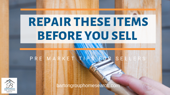 Repair these items before you sell