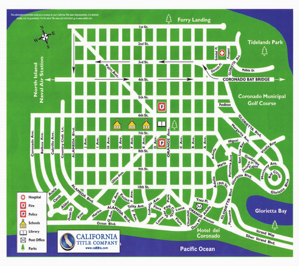 Coronado Village Map