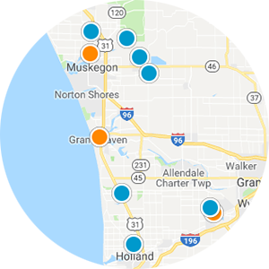 West Michigan Waterfront Real Estate Map Search