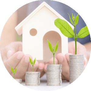 hands gently holding a replica of a home as if to say it has been well maintained and taken care of relative to property valuation about what someone's home would be worth if they were contemplating selling home