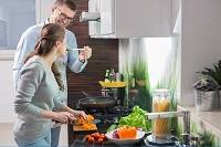 Now that more and more men are sharing the meal preparation work at home, men's input in kitchen design is on the rise.