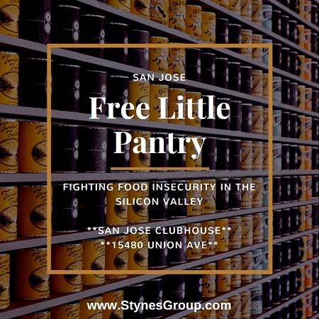 The San Jose Free Little Pantry located at the San Jose Clubhouse offers food and toiletries to Silicon Valley families in need at a time that is most convenient for them.