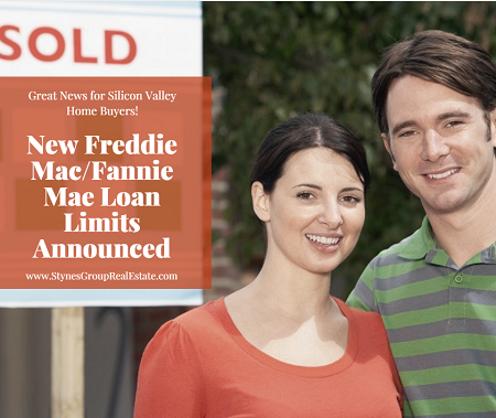 The FHFA recently announced new Fannie Mae loan limits for conforming loans in 2018 that should help many Silicon Valley homes with their next home purchase.