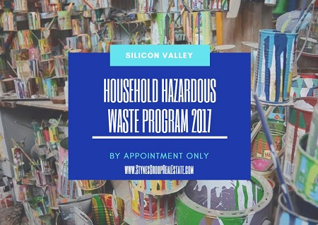 Make an appointment with the Silicon Valley Household Hazardous Waste Program 2017 to get rid of any items (except tires) that aren't allowed at regular curbside pickup.