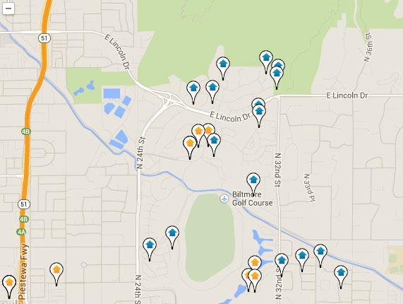 Biltmore Real Estate Map Search