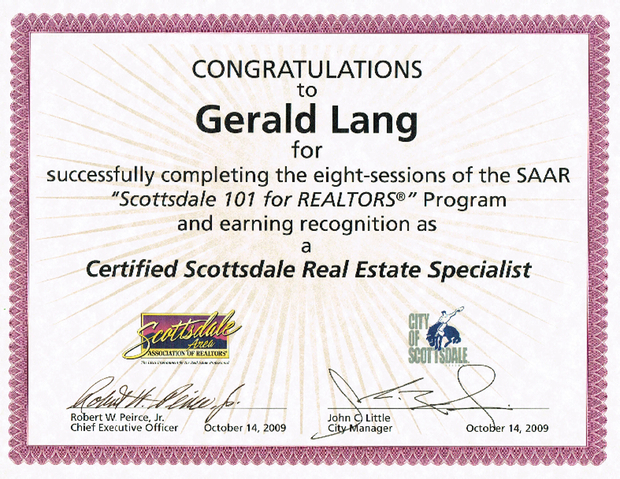 Scottsdale Real Estate Certification