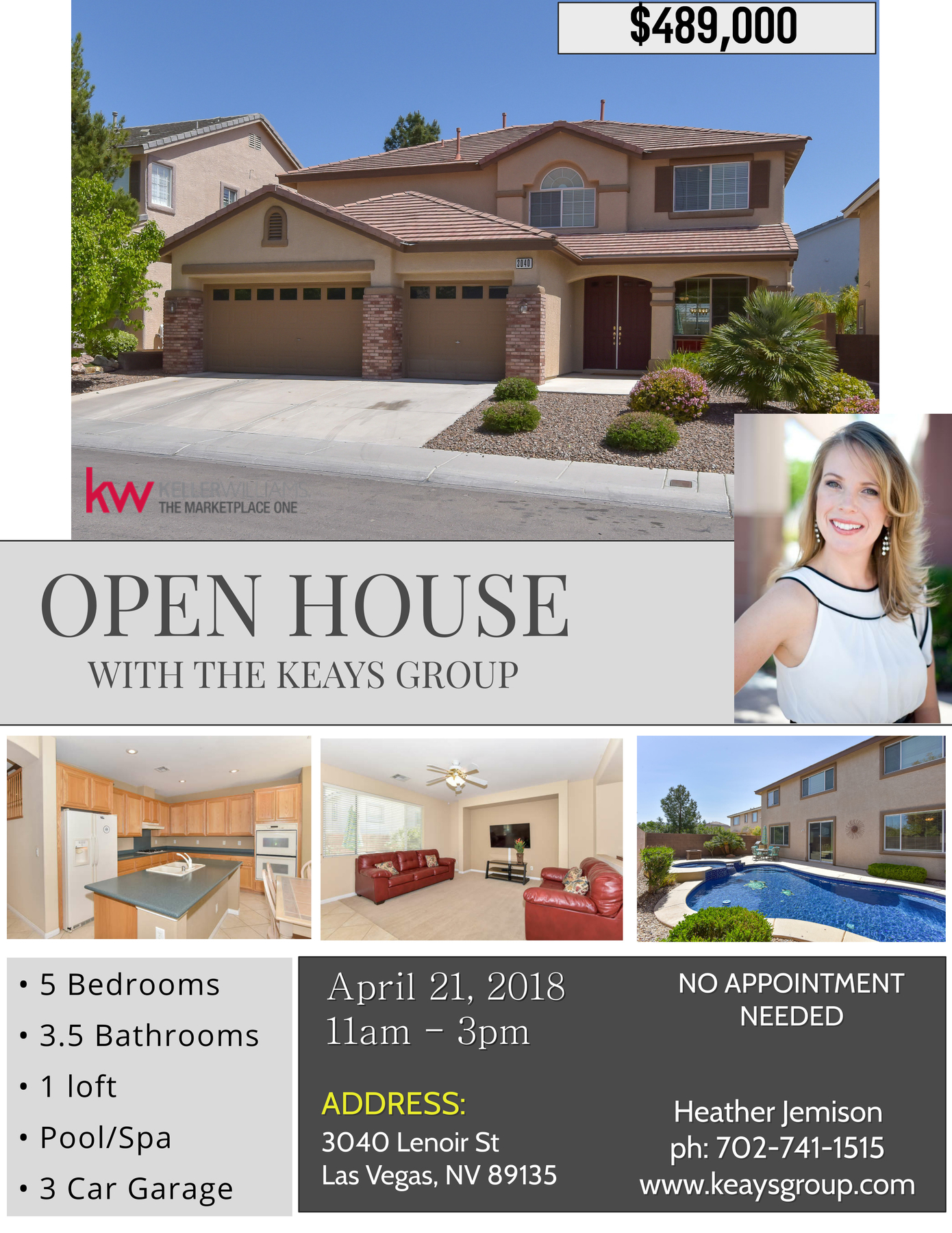 Open House Summerlin 3040 Lenoir St Las Vegas, NV