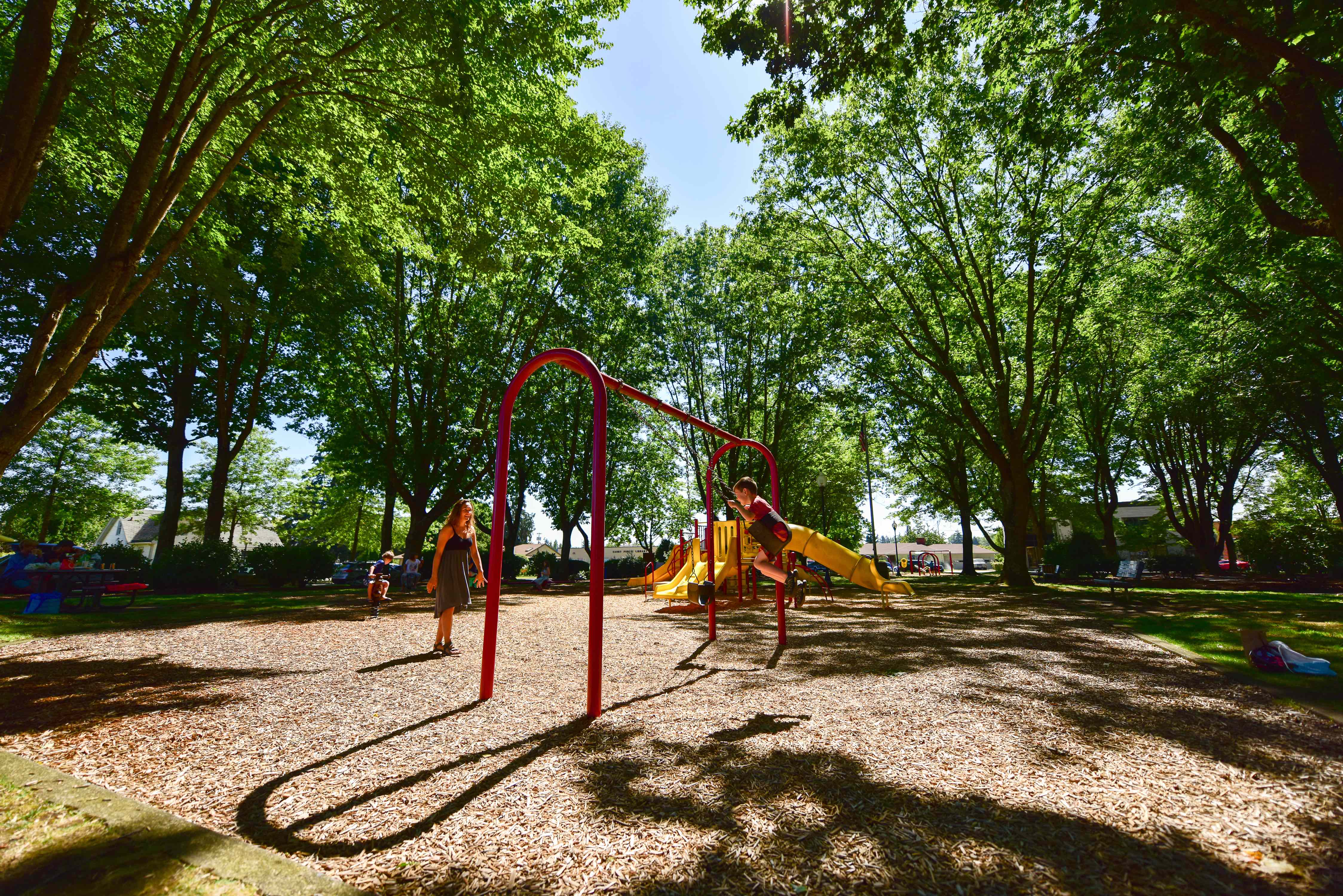Canby, OR Park Family Playing