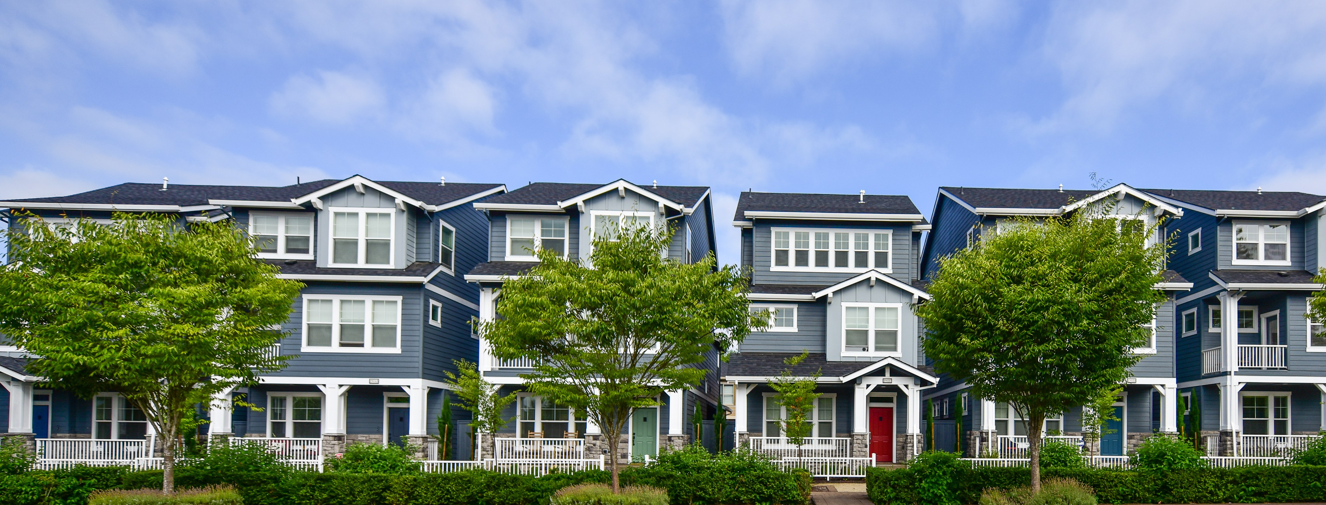 Row of Townhomes in Villebois Wilsonville, OR