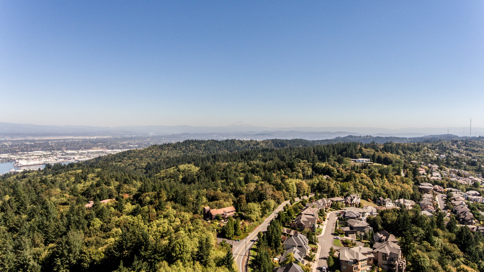 Portland and Forest Heights aerial views