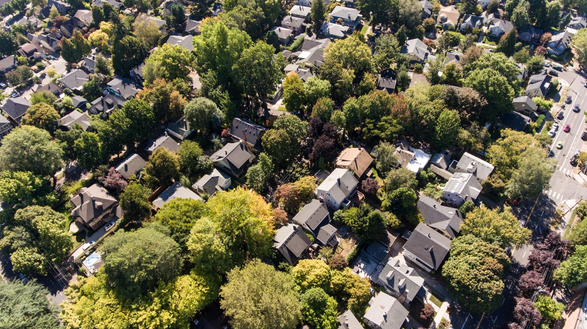 Laurelhurst homes for sale aerial view