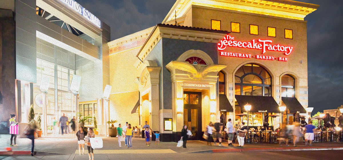 Washington square Mall Cheesecake Factory