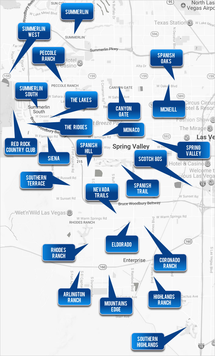 Southwest Las Vegas Homes - Select a Cities