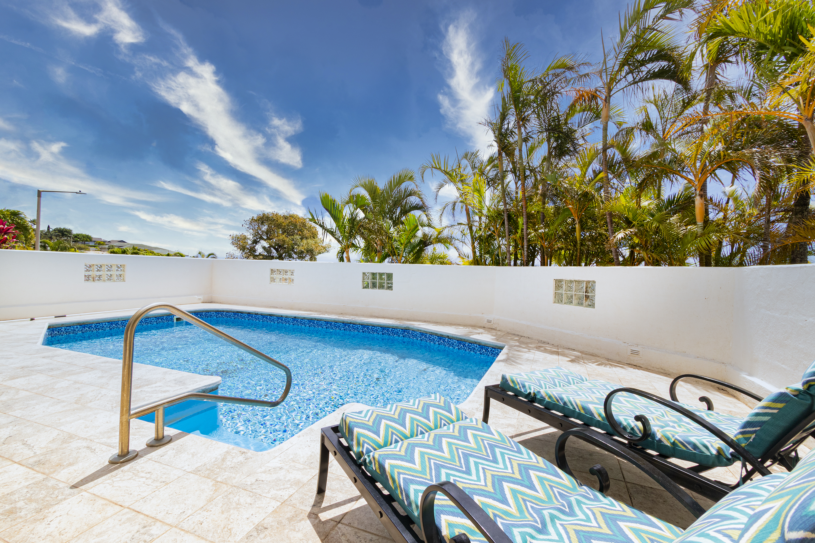 Pool and view at 122 Kokololio Place