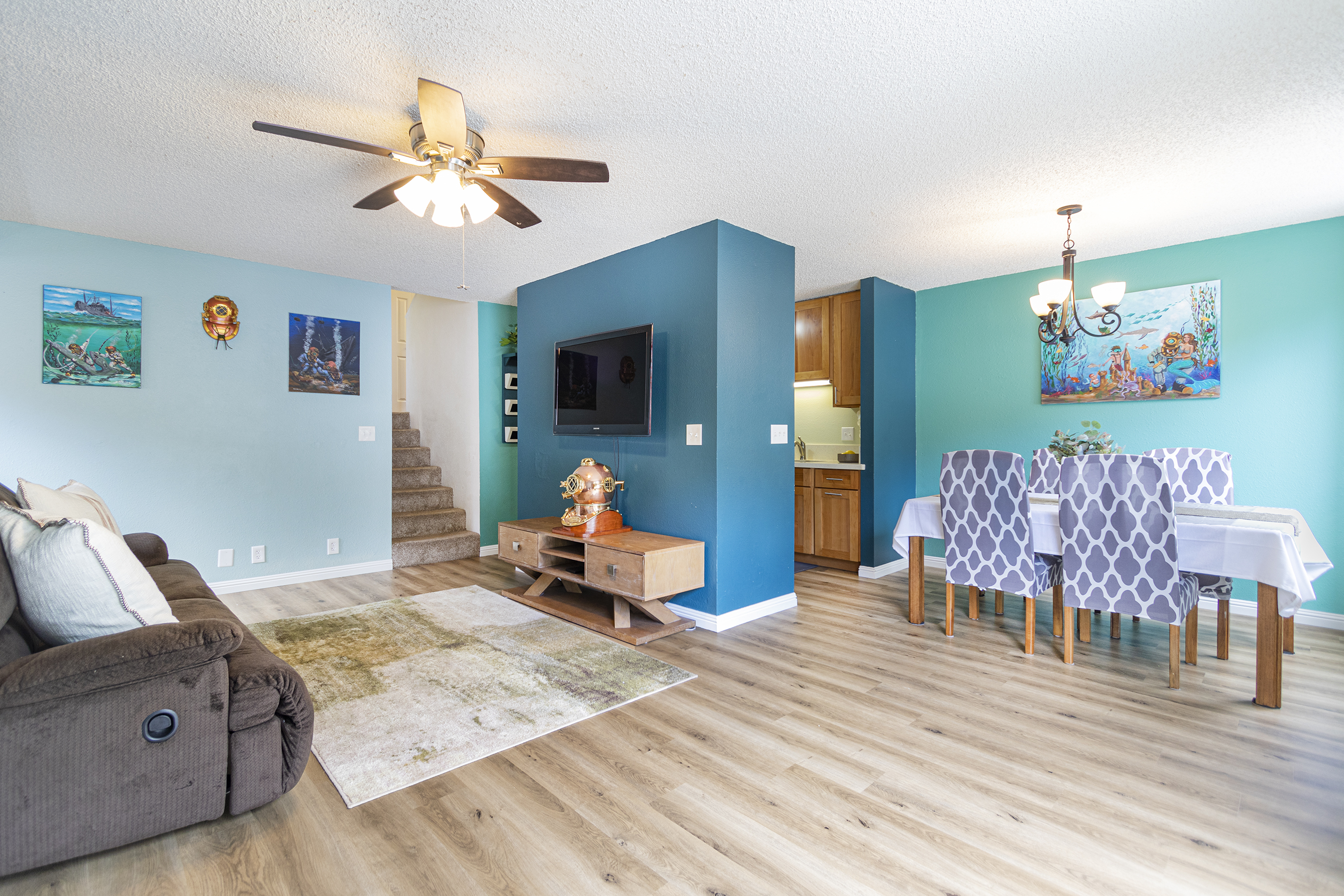Living and Dining room view at 2532 Akepa St, Pearl City