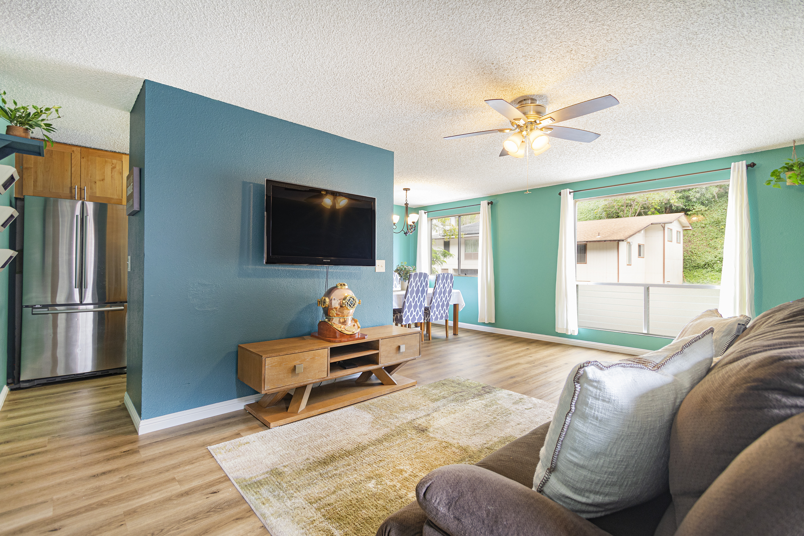 Living room to outside view at 2532 Akepa St Pearl City