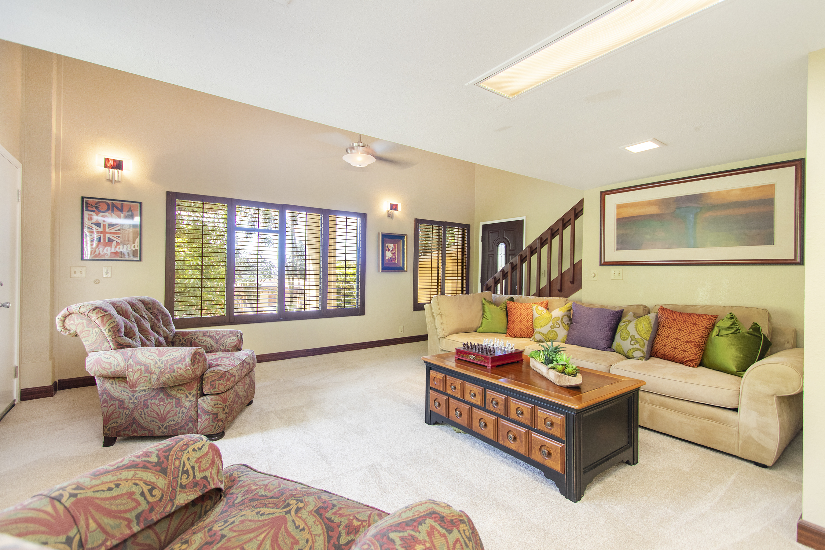 Downstairs living room at 3663 Woodlawn Drive