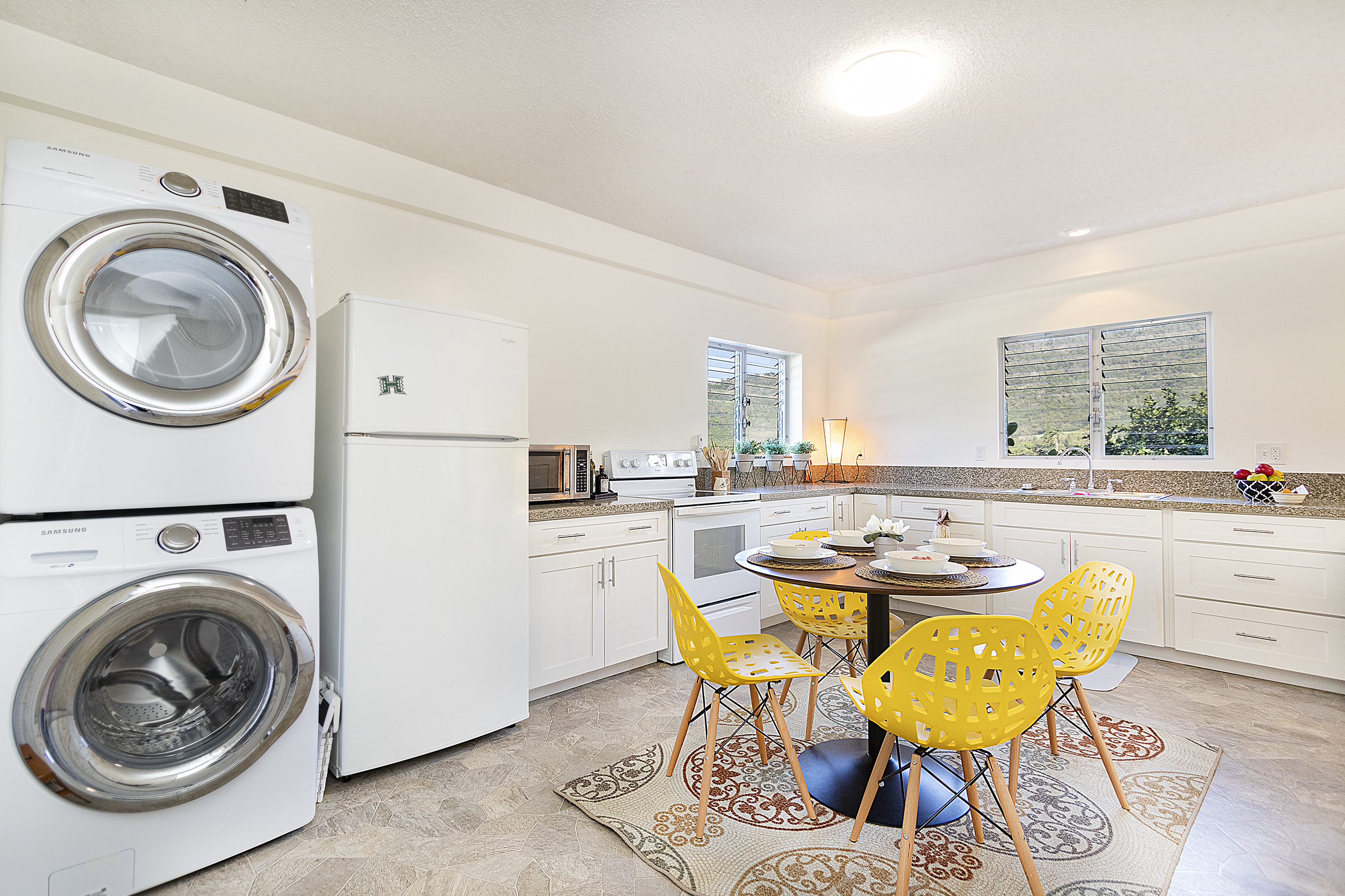 Downstairs Kitchen and Laundry Area at 380 Puiwa Road, Honolulu, HI 96817