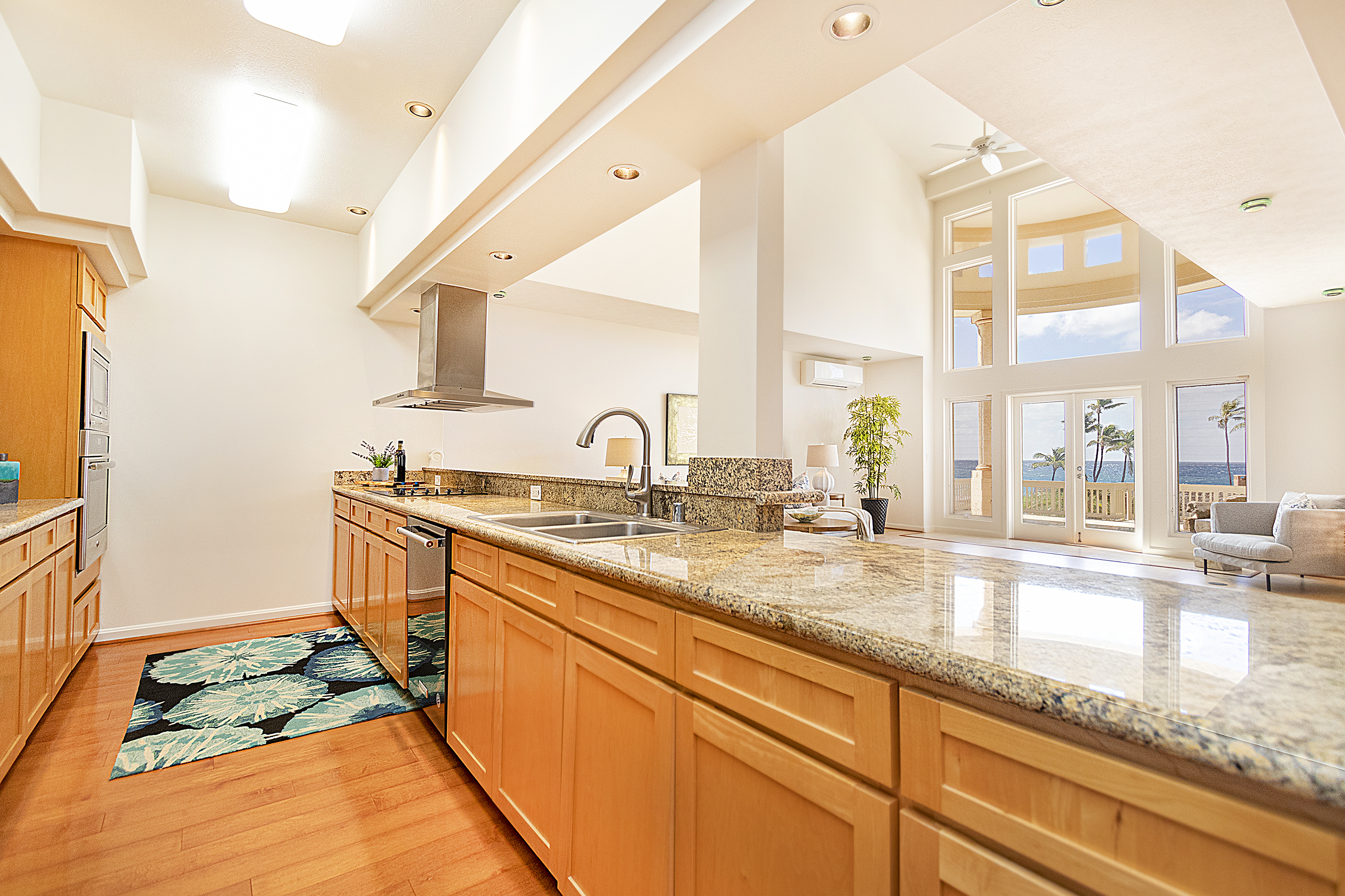 Kitchen at Living Room at 4323 Kaikoo Place, Honolulu, HI 96816