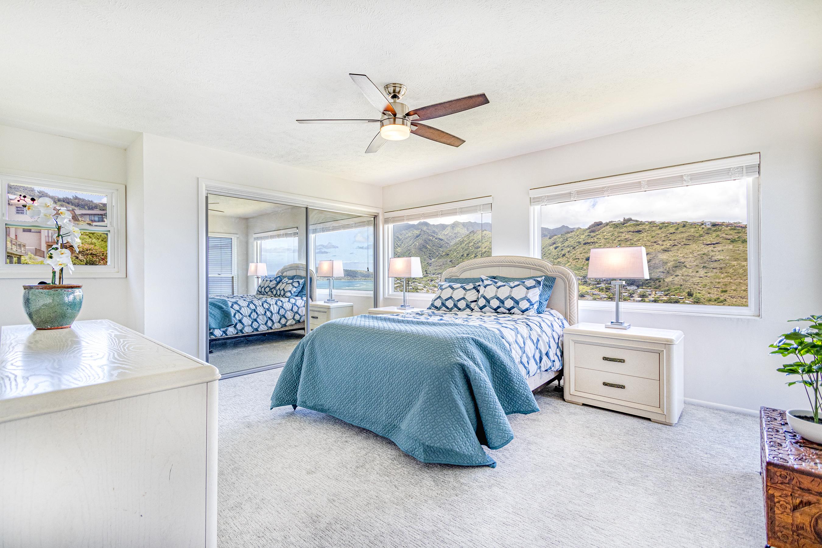 Master bedroom at 5307 Poola St Honolulu 96821