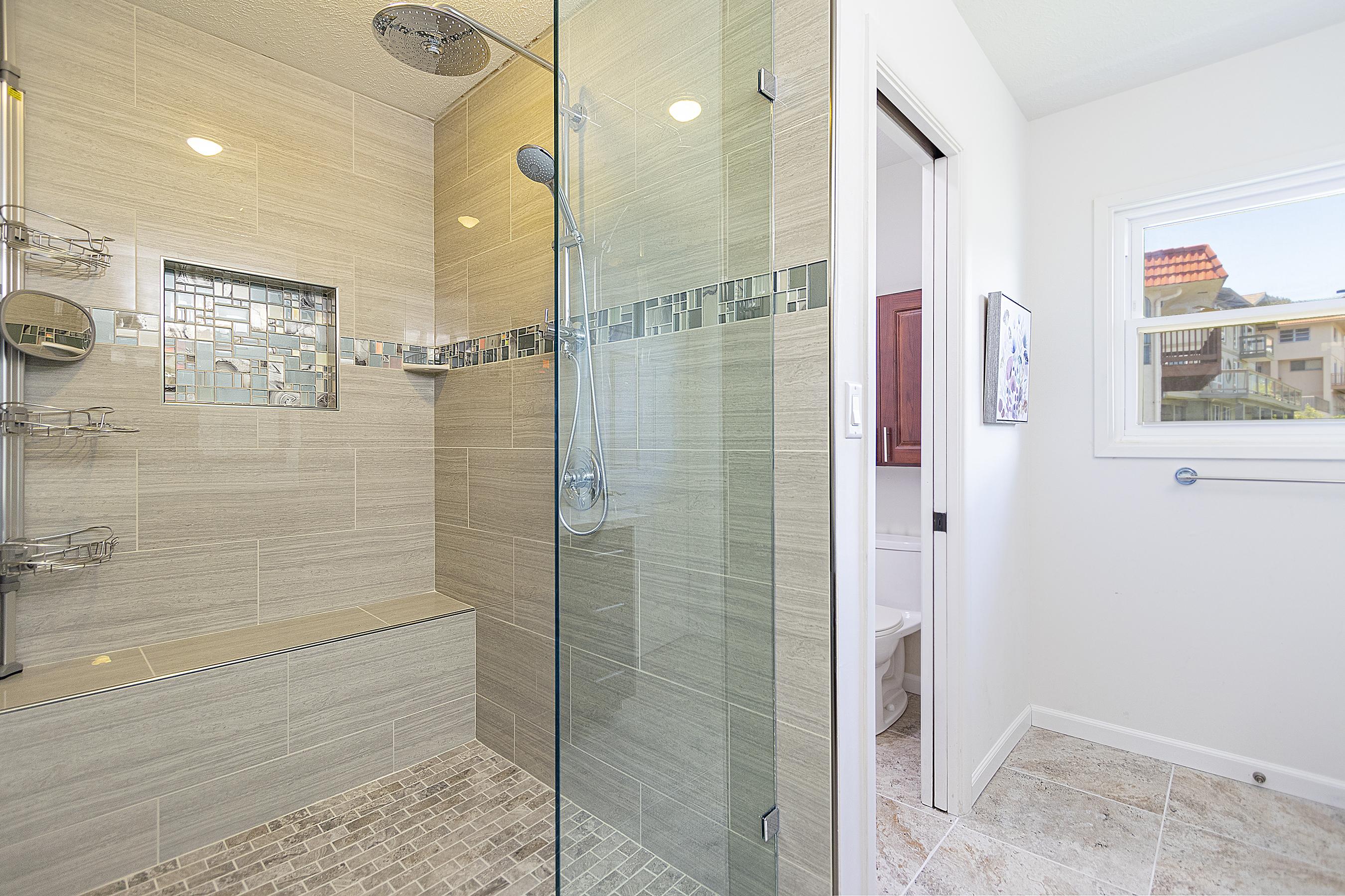 Master bathroom at 5307 Poola St Honolulu 96821